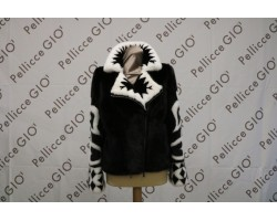 Visone Intarsiato Black White Doppia Zip